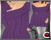 *SC-Snugly Sweater Purp
