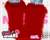 $ Fur Boots - Cherry