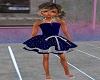 kid blue silver dress