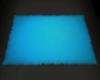 Neon Fur Rug Blue