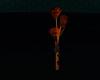 bronze falling roses