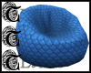 TTT Bean Chair ~ Blue