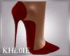 K dark red heels