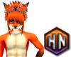 orange fox furkini male