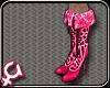 [GB] GaGa Pink Fur Boots