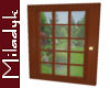 MLK Wood French Door