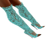 Teal Glitter Party Boots