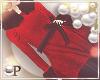 Elegant Tied Coat Red