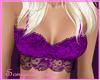 lace bustier top purple