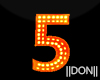 5 Letters Halloween Neon