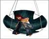teal cuddle chair