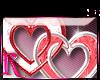*R* Double Heart Sticker