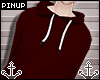 ⚓ | Red Hoodie