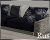 Rus Navy Patio L Couch