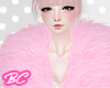 |bc| Adorb pink fur coat