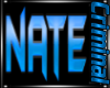 Nate Wall Sign Blue