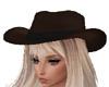 Cowgirl Hat Dark Brown
