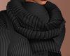 S. Layerable Black Scarf