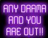 GL-Any drama sign