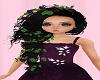braid w/ purple flower