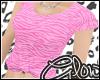 #Zebra Tee - Pink#
