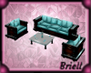Birthday Teal Couch Set