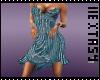 vestido azul de lentejue