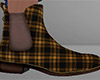 Brown Ankle Boots Plaid