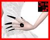 Halloween Black Nails