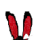 Red and Black Bunny Ears