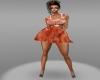 orange lilly dress