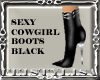 ! S Cowgirl Boots Black