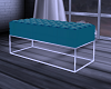 Teal/White Bench