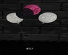 pink, blk, silv ballons