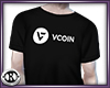 VCOIN Black Tee M