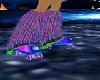 rainbow rave skates