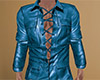 Teal Leather Shirt 3 (M)