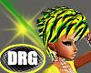 {DRG}Grn/Blk/Ylw Hair
