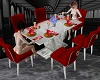 ! Dining Table White Red