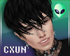 Messy Emo Black Hair