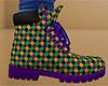 Mardi Gras Work Boots M