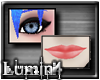 [*L] Pink Lippy/Blk Eyes