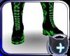 Black Green Neon Boots