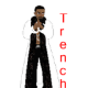 White Trench Blk Fur