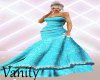 """Erina"" Teal Gown"