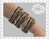 D* gld/brn bracelets R