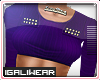 ►Purple Cropped .Top