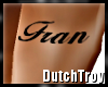 Fran arm tattoo