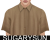 /su/ SATIN SHIRT BROWN