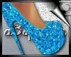 d3✠ Glitter Heels Turq